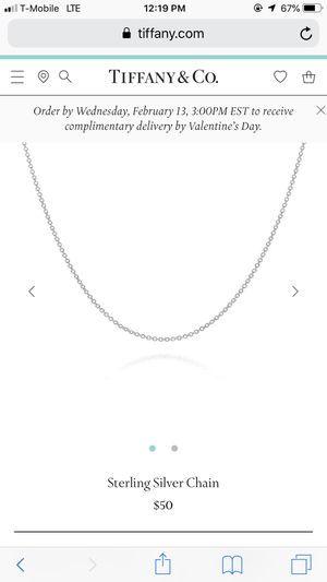 Silver chain for Sale in Columbus, OH