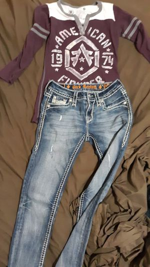 Rock revivals size 26 American fighter shirt sz sm. for Sale in Price, UT