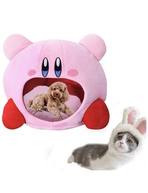 Puppy Pet Cat Dog Soft Nest Dog Bed Bed Cute Kirby Plush Small Pet House Sleeping Mat Pet Supplies Warm Comfortable Bed for Sale in Baldwin Park, CA