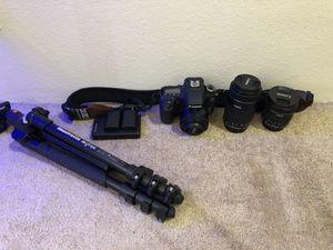 Canon 80D + lenses + Manfrotto tri-pod for Sale in Hillsborough, CA
