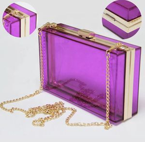 Purple Transparent off the shoulder handbag for Sale in Dallas, TX