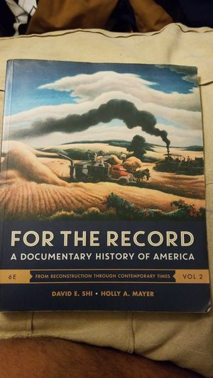 FOR THE RECORD. A documentary history of America. (Lone star college) for Sale in Humble, TX