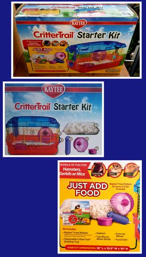 CritterTrail Starter Kit *Perfect Gift For A Kiddo Wanting A Hamster, Gerbil, Rat...New In Box(Only Need Pet & Food) for Sale in Nederland, TX