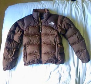 Brown The Northface down jacket women's size small for Sale in Edmonds, WA