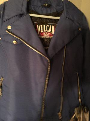 NWT Vulcan Ladies Motorcycle Jacket Blue Medium for Sale in St. Petersburg, FL