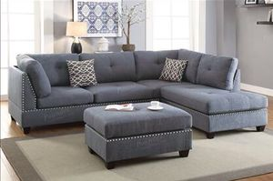 Holiday sale!!!! Sectional with ottoman for Sale in Phoenix, AZ