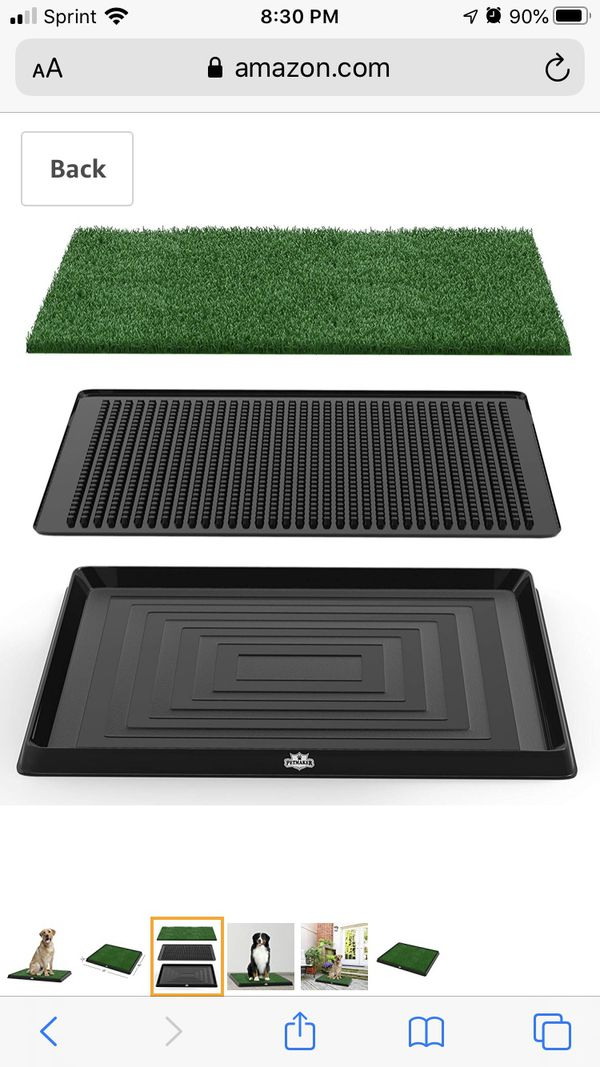 Artificial Grass Bathroom Mat for Puppies & Small Pets