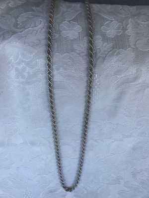 """Sterling Silver .925 / 39"""" Long Heavy Thick Rope Chain Italy 1.78 Ozs for Sale in Winter Springs, FL"""