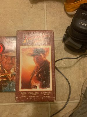 INDIANA JONES trilogy in video cassettes for Sale in El Cajon, CA