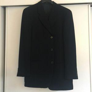 GIORGIO ARMANI LE COLLECION MADE IN ITALY BLACK WOOL SUIT SIZE LARGE SLACKS 38/31 BEAUTIFUL SUIT for Sale in Santa Monica, CA