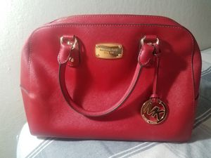 Michael Kors Red Leather tote for Sale in Richmond, CA
