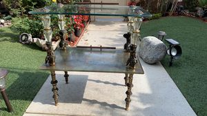 Antique Brass Angel Glass Table for Sale in Carson, CA