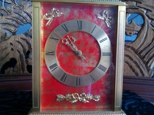 Vintage F.Mauthe German 8 day time & strike mantel 4 jewels clock for Sale in Boynton Beach, FL