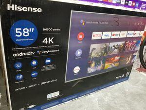 "58"" LED SMART 4K ULTRA HDTV BY HISENSE. 1 year WARRANTY for Sale in Los Angeles, CA"