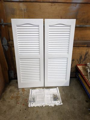 Mid-America Cathedral Louvered Vinyl Standard Shutter for Sale in Graham, WA