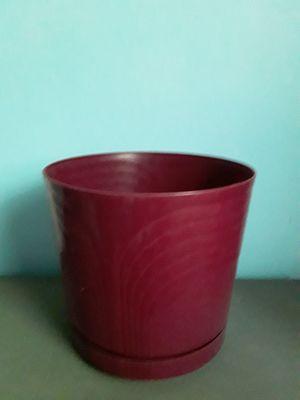 Red flower pot for Sale in Narragansett, RI