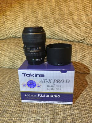 Tokina 100mm F2.8 Macro, Nikon F-Mount for Sale in Hillsboro, OR