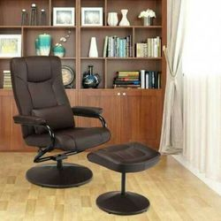 Recliner Chair Swivel Armchair Lounge-Brown D681-HW63832CF for Sale in Whittier,  CA