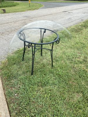Glass dining table 50 obo no chairs for Sale in Salisbury, NC
