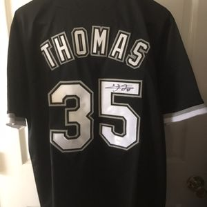 Frank Thomas #35 Autographed Baseball Jersey Comes With A COA for Sale in Cranberry Township, PA