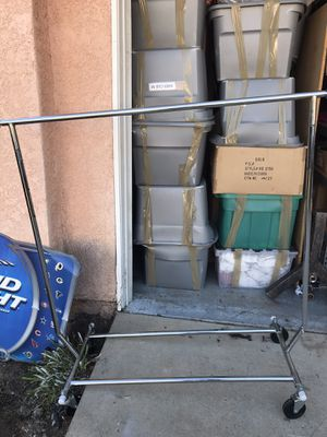 Clothing rolling rack metal for Sale in Alta Loma, CA