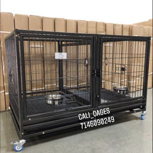 Dog Pet Cage Kennel Size 43 Upper Folding With Divider And Feeding Bowls New In Box 📦 for Sale in Montclair, CA