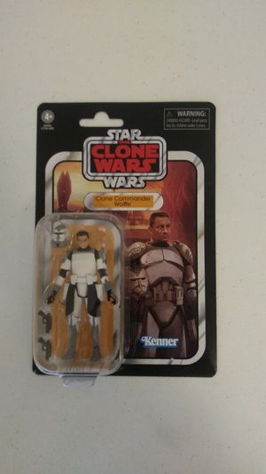 Star Wars the clone wars the vintage collection clone commander wolffe action figure kenner for Sale in Healdsburg, CA
