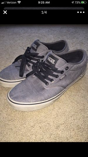 Men's size 9 1/2 9.5 Vans gray for Sale in Cary, NC