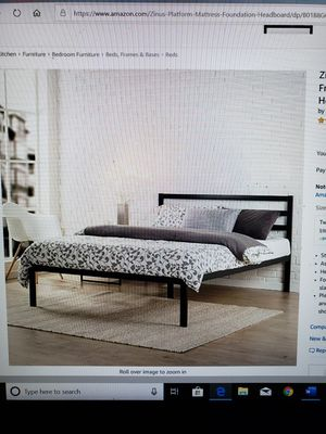 """Brand New (in the box) Zinus Mia 14"""" Queen Platform Frame with Headboard for Sale in Batavia, OH"""