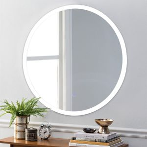24 LED Illuminated Light Wall Mount Bathroom Round Mirror for Sale in Wildomar, CA