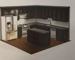 11'x11' kitchen with island cabinet order as seen on photos for Sale in Philadelphia, PA