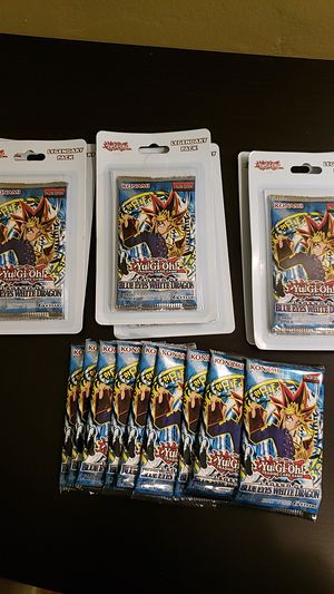 Legend of blue eyes blister packs yugioh for Sale in Los Angeles, CA
