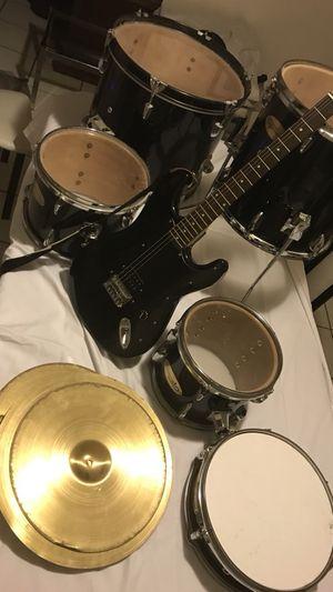 Drum set + Guitar for Sale in Coral Gables, FL