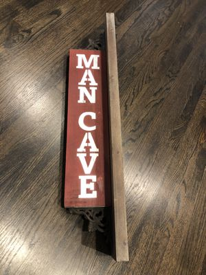 Wooden Man Cave Wall Sign for Sale in La Mirada, CA