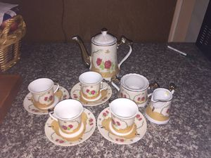 Chinese coffee pot,cups and plates for Sale in Austin, TX