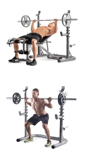 BNIB XRS 20 Olympic Squat Rack / Weight Bench Press Workout Set for Sale in Rancho Cucamonga, CA