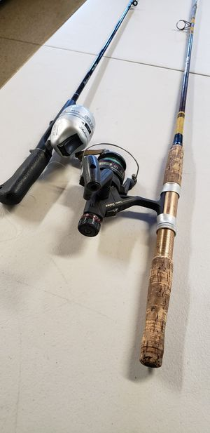 Two Fishing Poles and Reels for Sale in Yorba Linda, CA