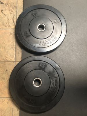 25lb Pair Titan Fitness Bumper Plates for Sale in Los Angeles, CA