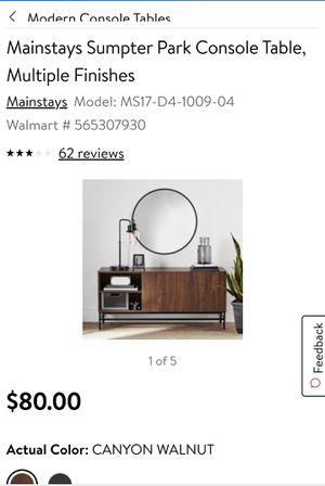 Console table multiple finishes for Sale in Fountain Hill, PA