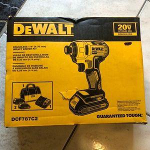 "DeWalt 20V Max 1/4"" Brushless Impact Driver Kit DCF787C2 for Sale in Philadelphia, PA"