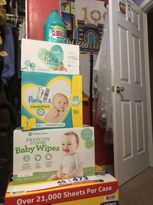 Pampers wipes and paper for Sale in Goodyear, AZ