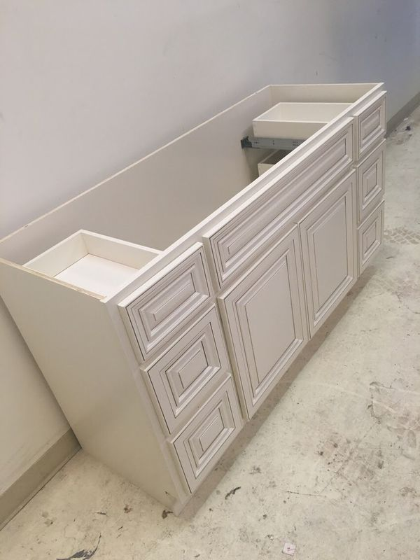"Bathroom vanity cabinet 60"" All Wood for Sale in Houston ..."