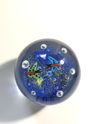 Glass paperweight featuring 2 butterflies for Sale in Webster, MA