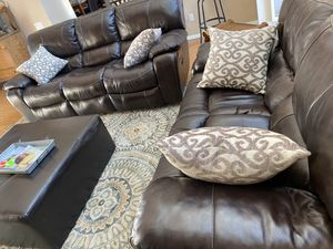Leather recliner couch, loveseat for Sale in Glendale, AZ