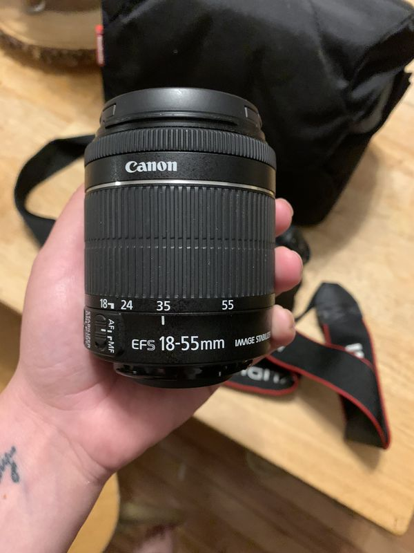 Canon EOS Rebel T5i with 18-55 mm lense and Camera Bag