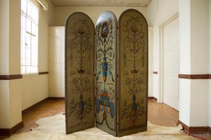 Antique hand painted screen for Sale in Los Angeles, CA