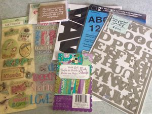 Art paper, decorative letters, stickers for Sale in Nashua, NH