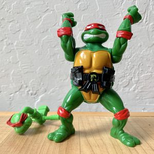 Vintage 1991 Teenage Mutant Ninja Turtles Head Droppin Raph Action Figure With 1 Accessory TMNT Collectable Toy for Sale in Elizabethtown, PA