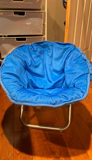 Kids blue foldable chair for Sale in San Francisco, CA