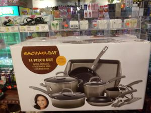 Brand New Sealed Rachael Ray 14-Pc. Nonstick Cookware Set for Sale for sale  Bronx, NY